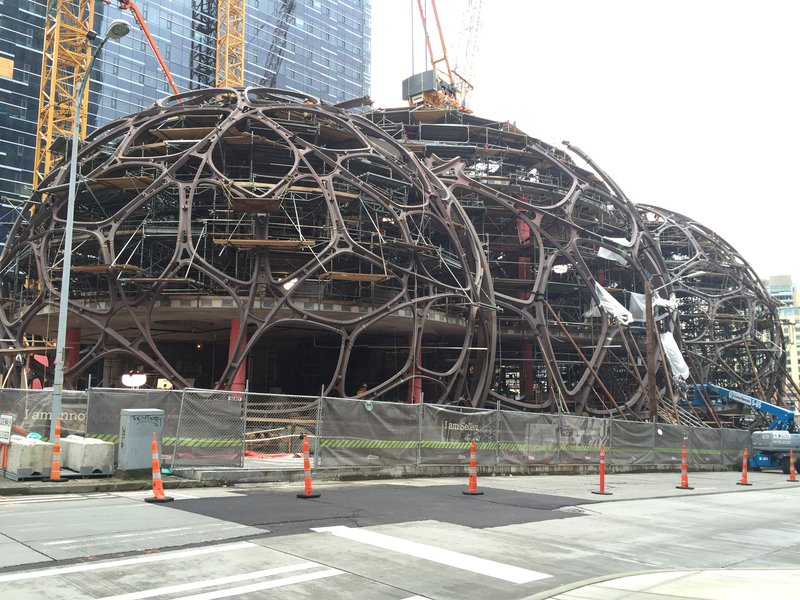 Amazon spheres take shape after being primed with Tnemec